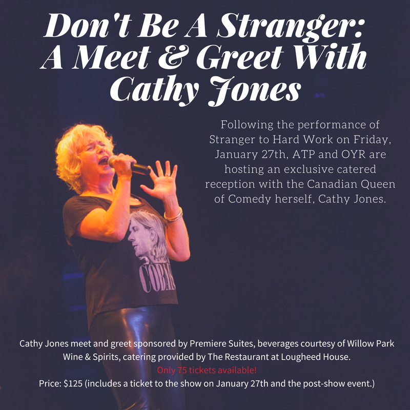 Meet the Canadian comedy Queen Cathy Jones on January 27 with your V.I.P ticket